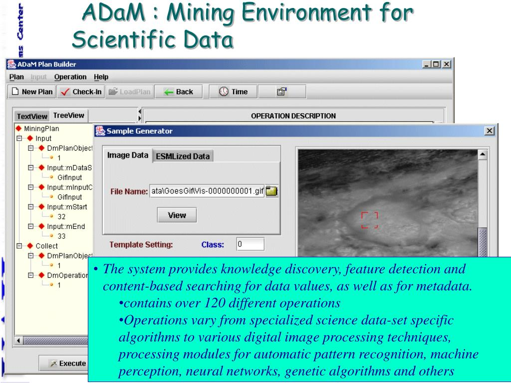 ADaM : Mining Environment for Scientific Data