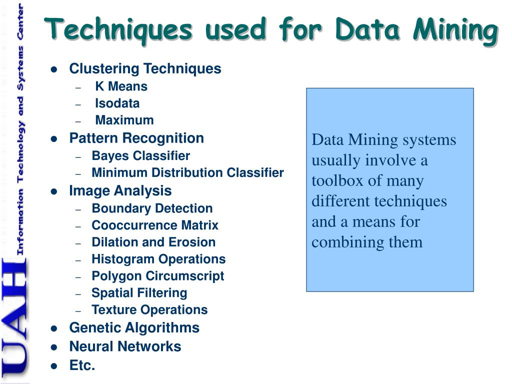 Techniques used for Data Mining