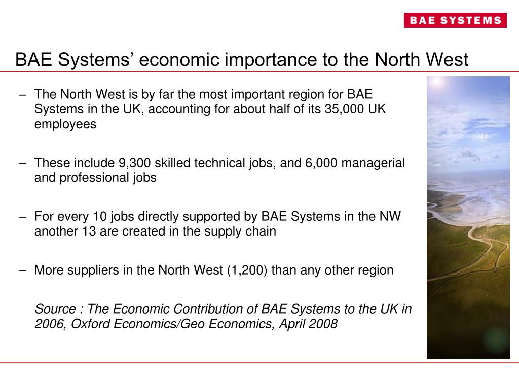 BAE Systems' economic importance to the North West