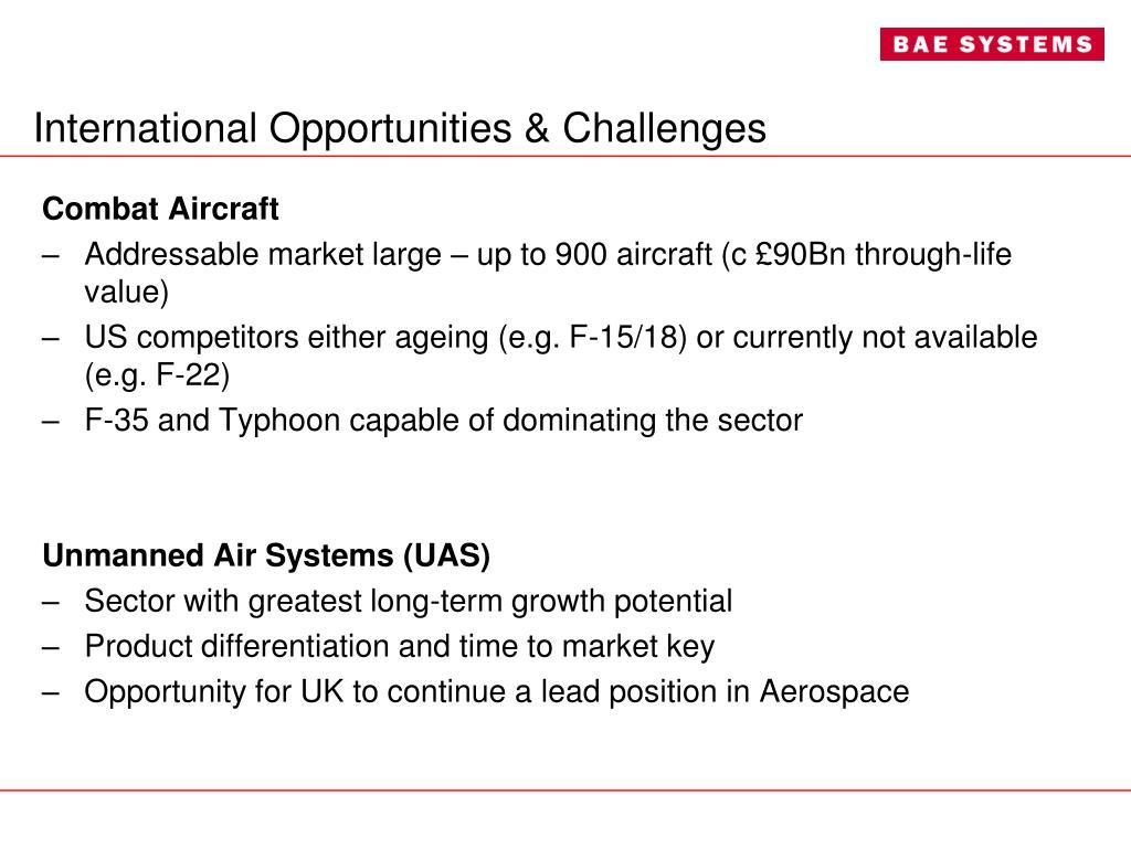 International Opportunities & Challenges