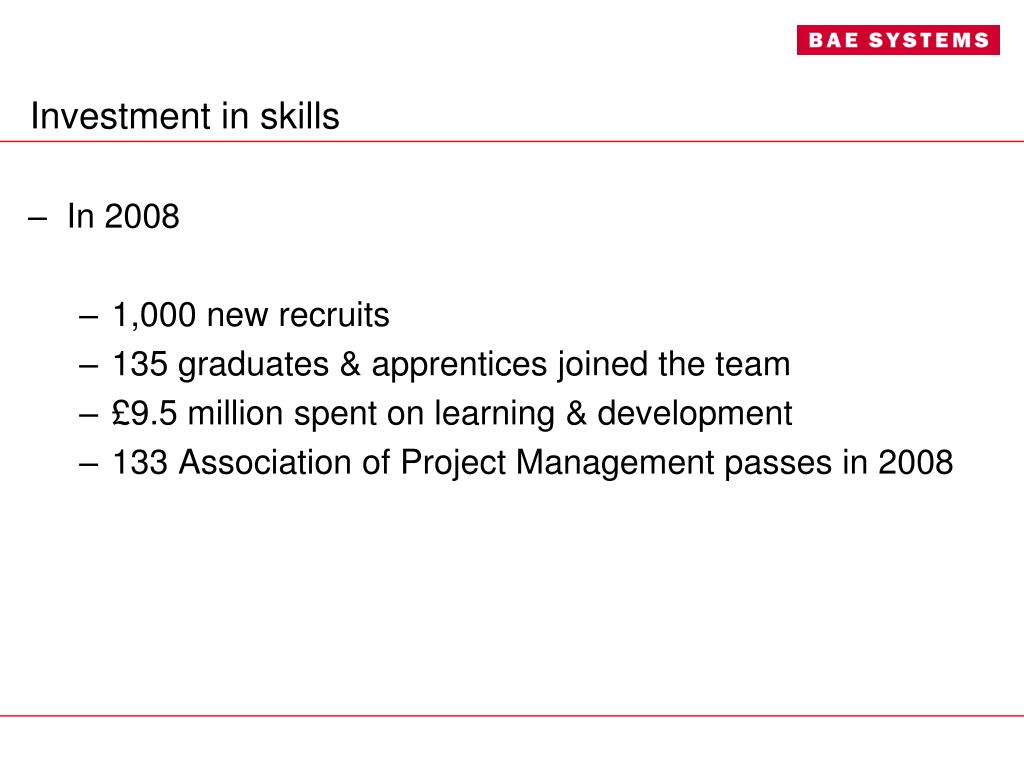 Investment in skills