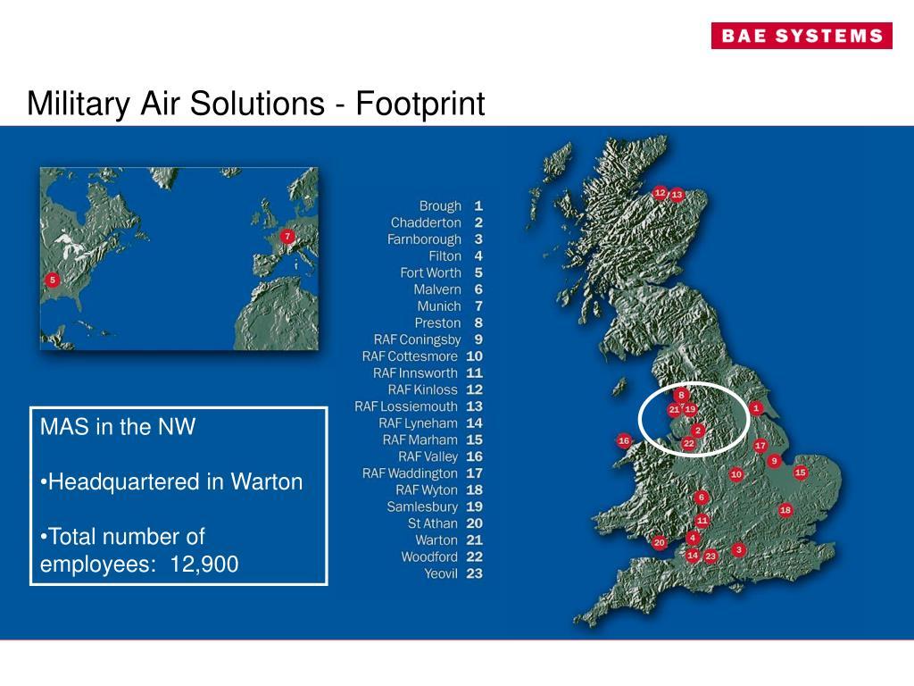 Military Air Solutions - Footprint