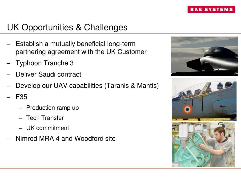 UK Opportunities & Challenges
