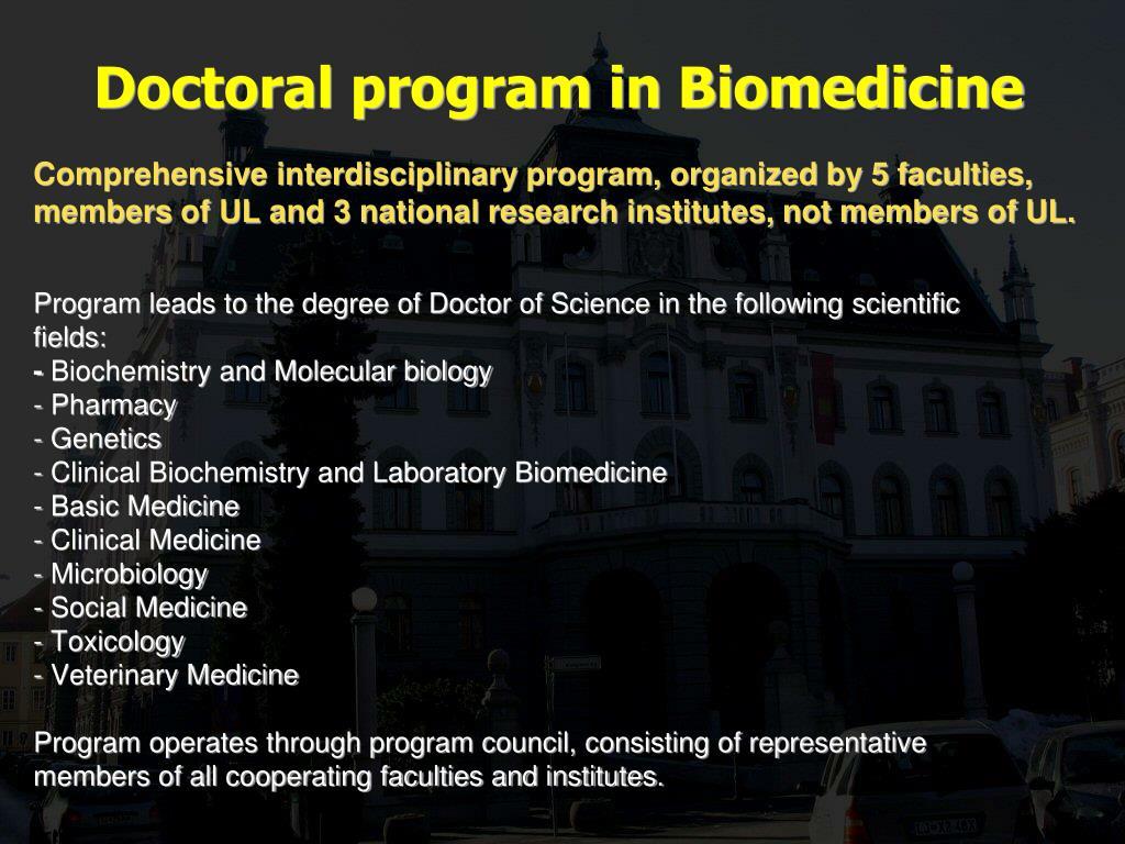 Doctoral program in Biomedicine