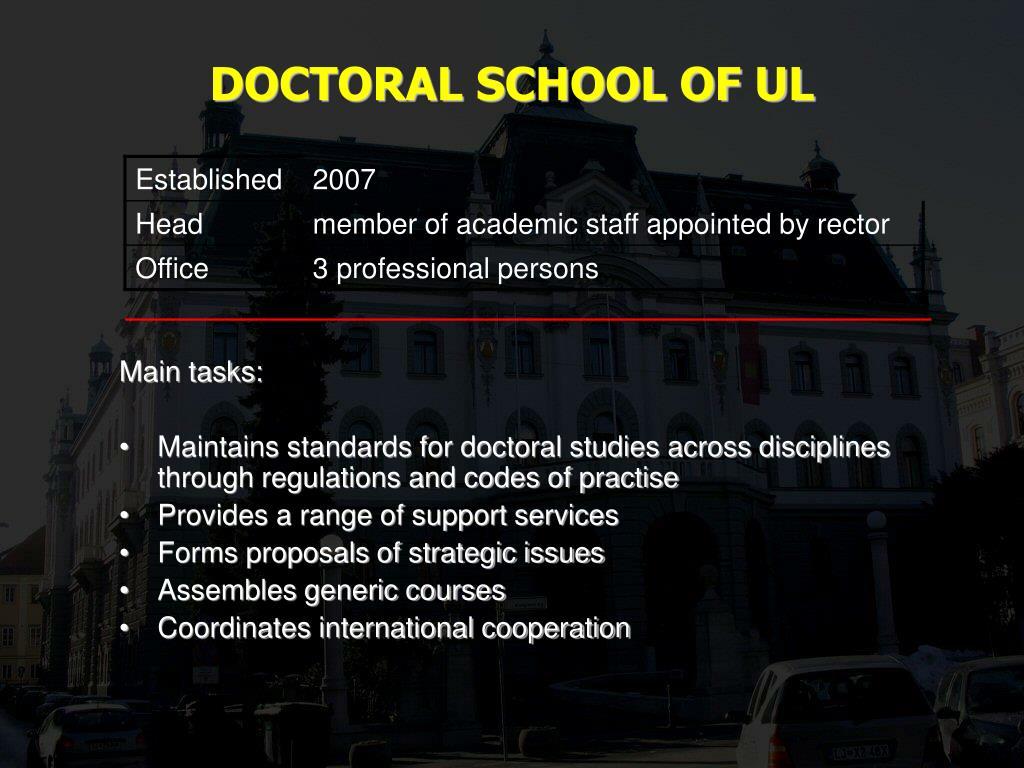 DOCTORAL SCHOOL OF UL