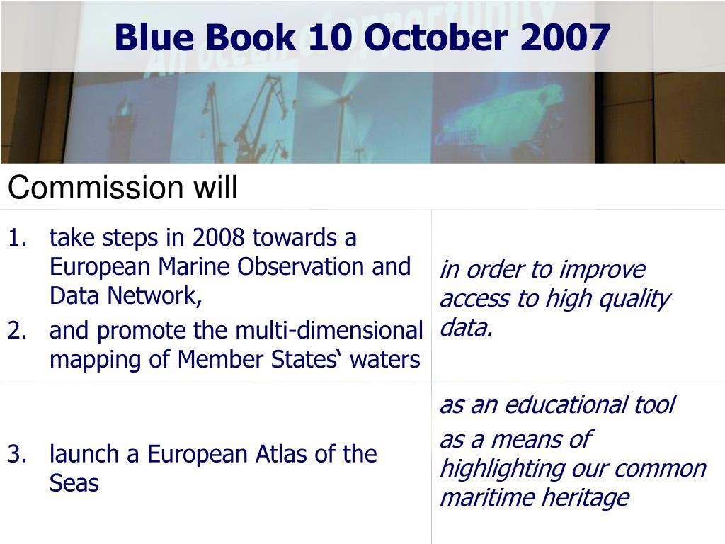Blue Book 10 October 2007