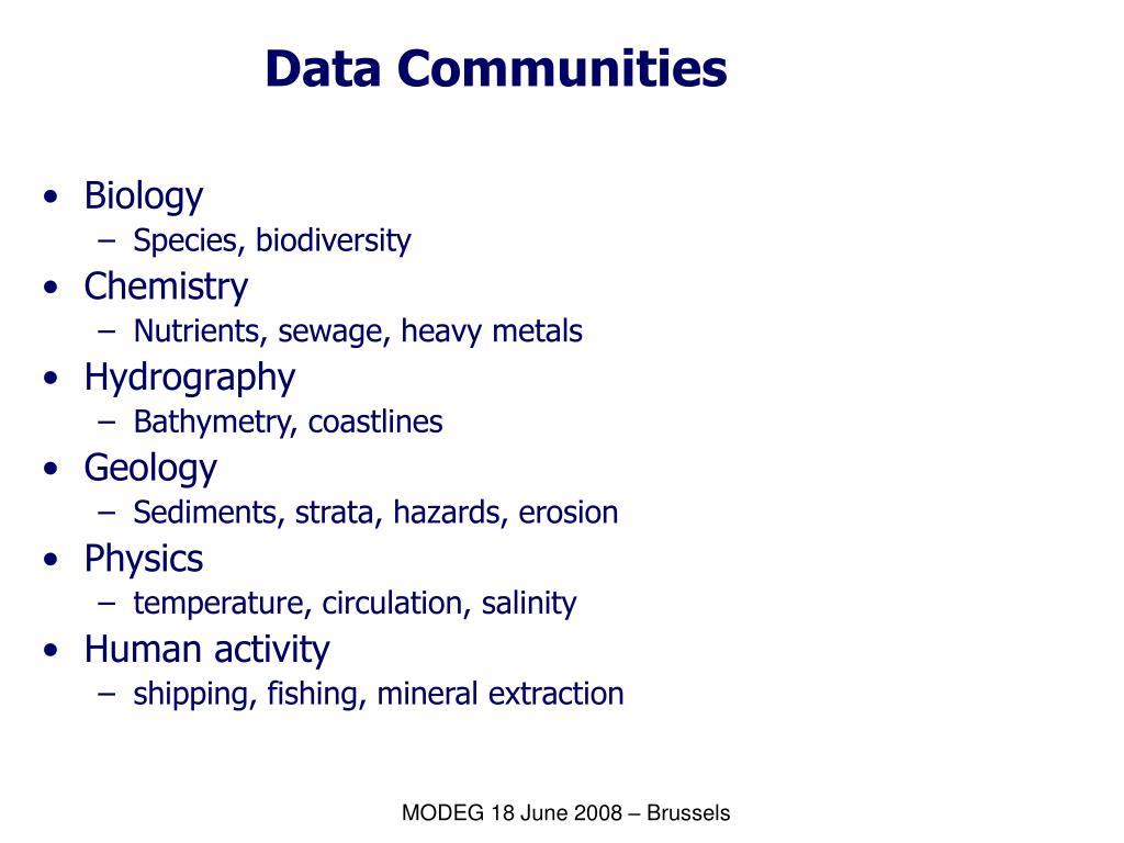 Data Communities