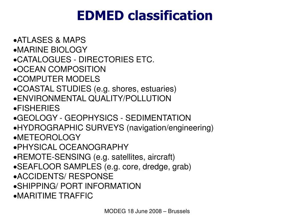 EDMED classification