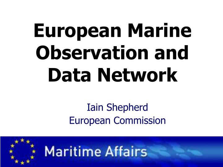 European marine observation and data network