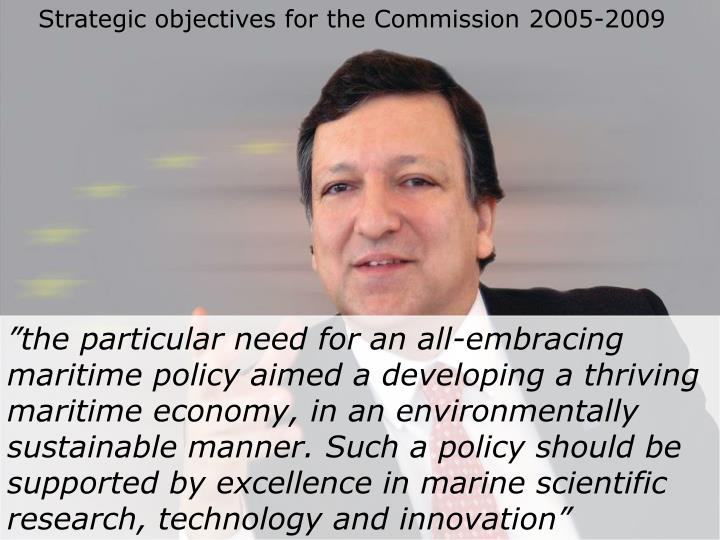 Strategic objectives for the Commission 2O05-2009