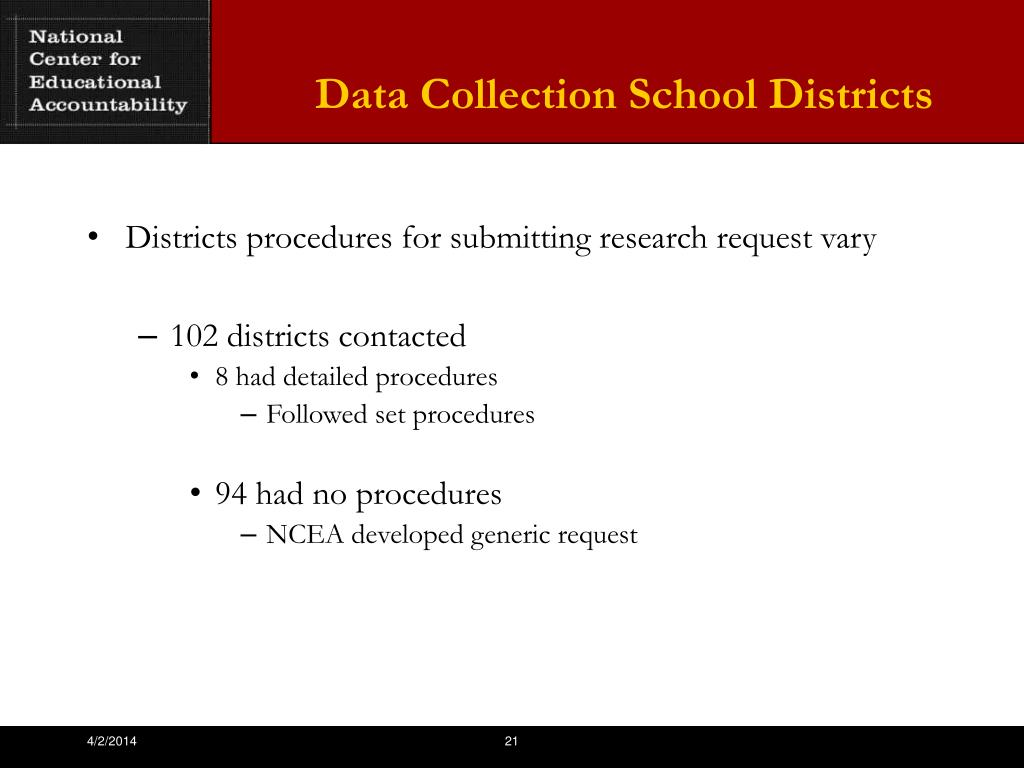 Data Collection School Districts
