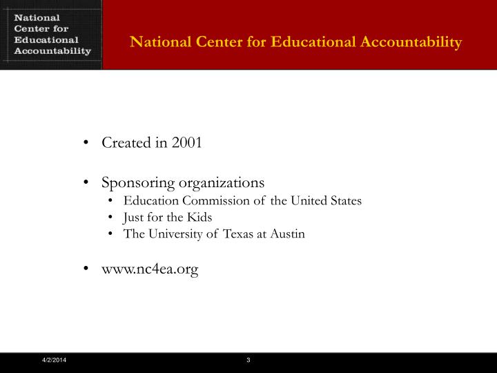 National Center for Educational Accountability