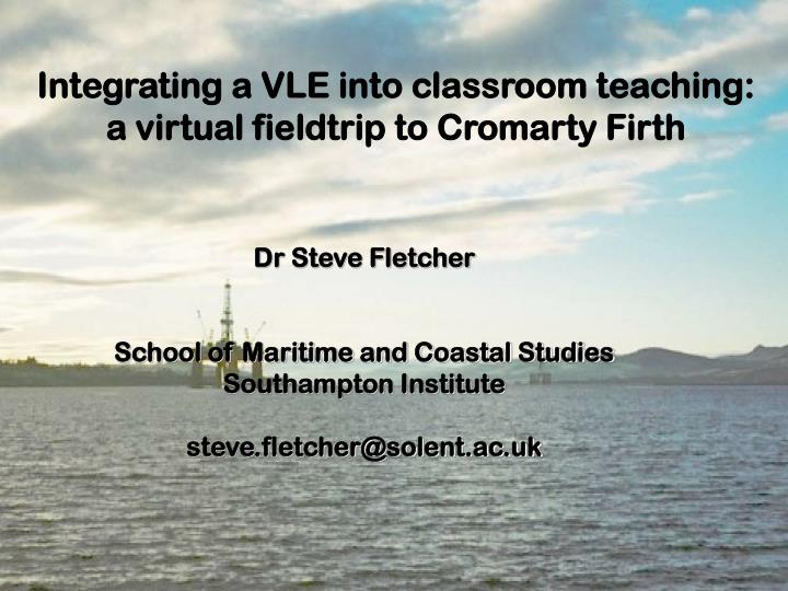 Integrating a VLE into classroom teaching: