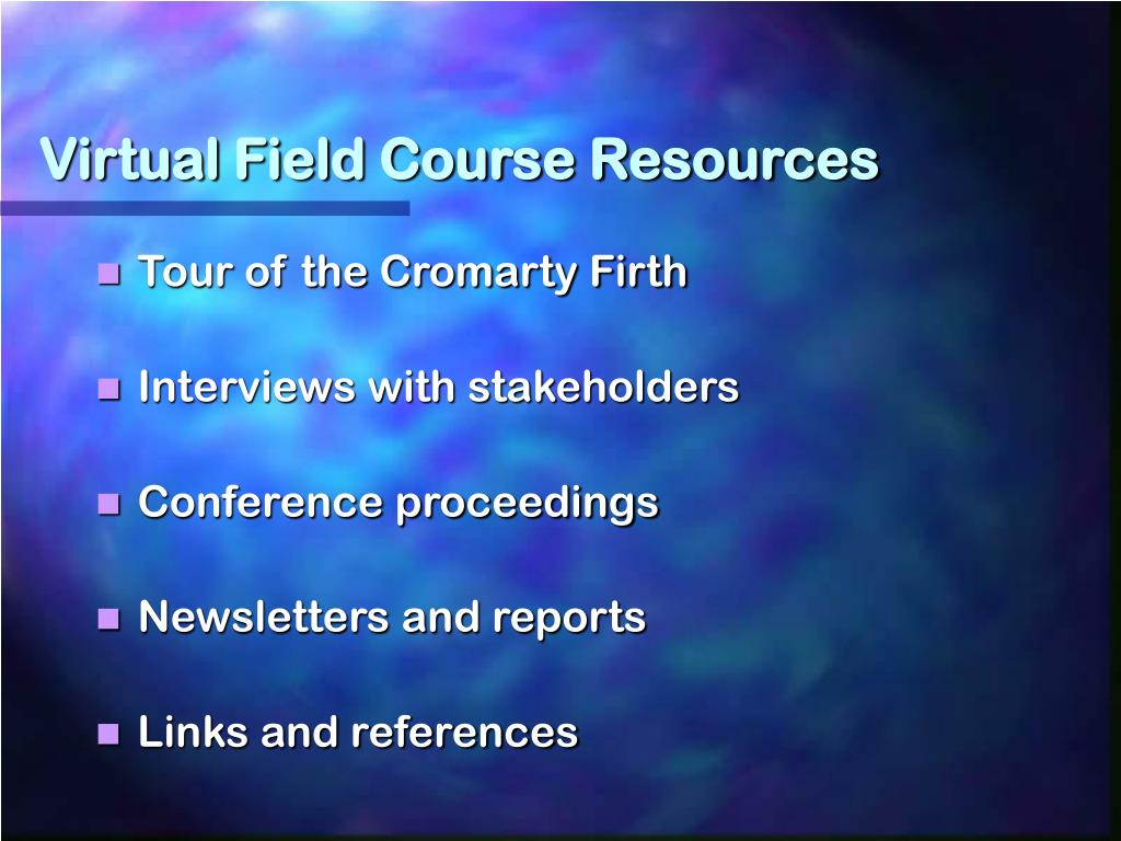 Virtual Field Course Resources