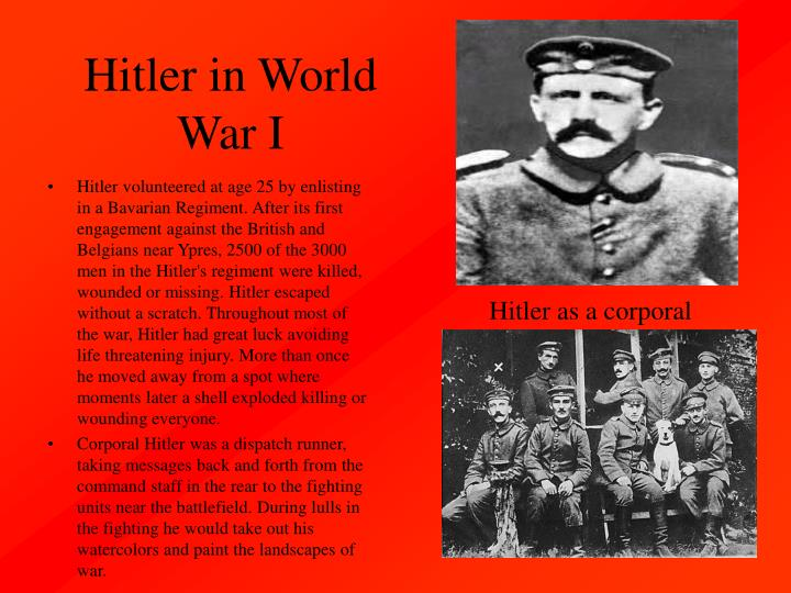 Hitler in World War I