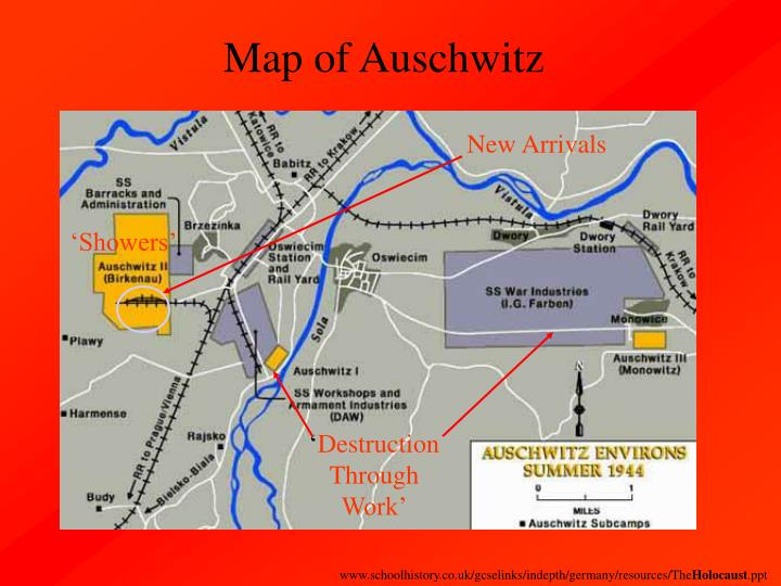 Map of Auschwitz