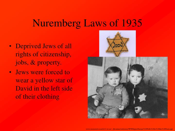 Nuremberg Laws of 1935