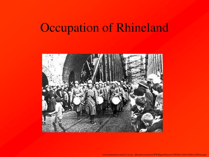 Occupation of Rhineland