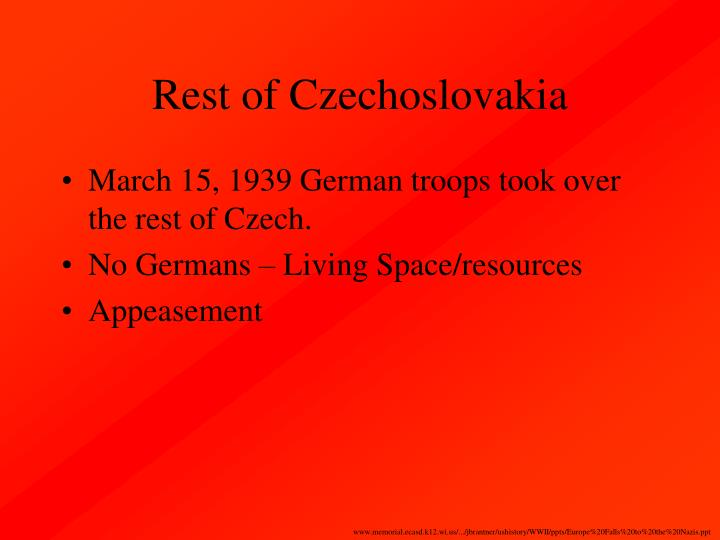 Rest of Czechoslovakia