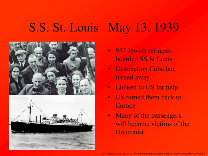 S.S. St. Louis   May 13, 1939