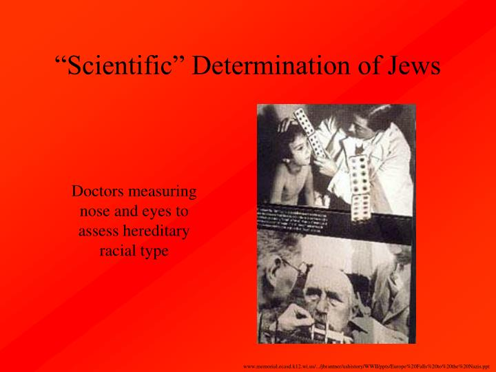"""Scientific"" Determination of Jews"