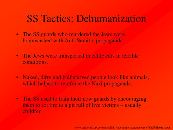 SS Tactics: Dehumanization