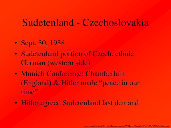 Sudetenland - Czechoslovakia
