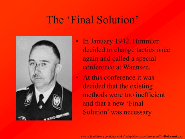 The 'Final Solution'