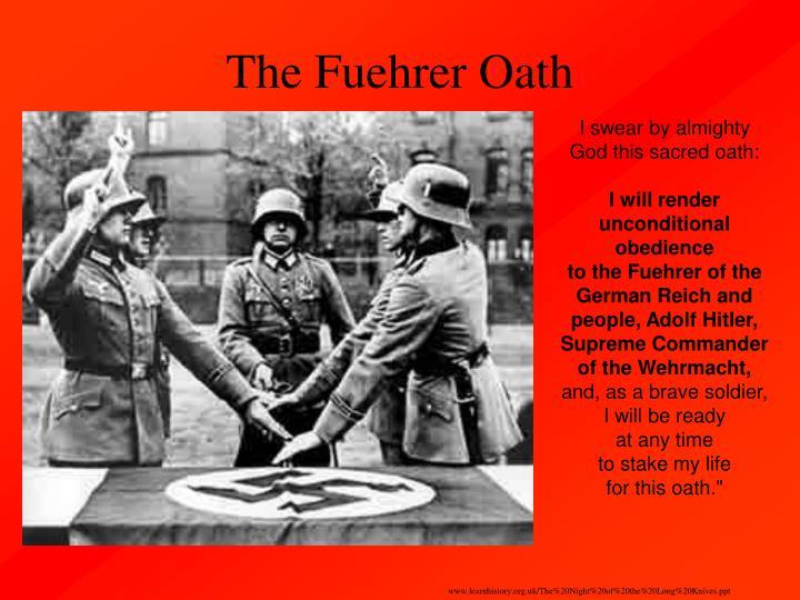 The Fuehrer Oath