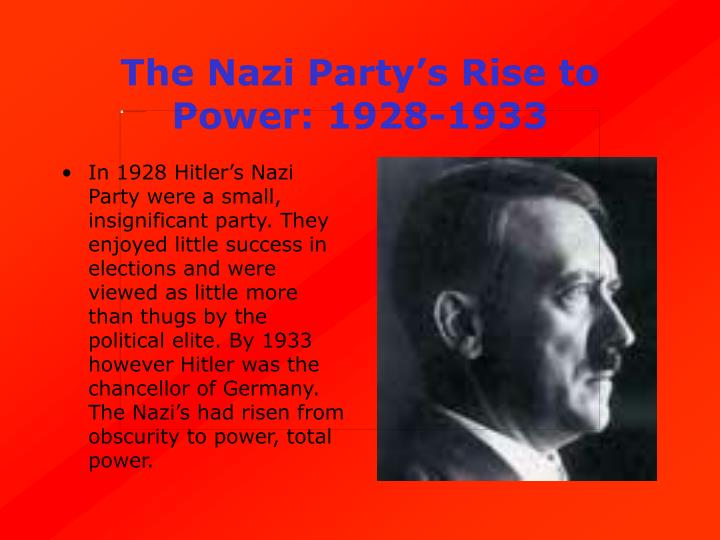 The Nazi Party's Rise to Power: 1928-1933