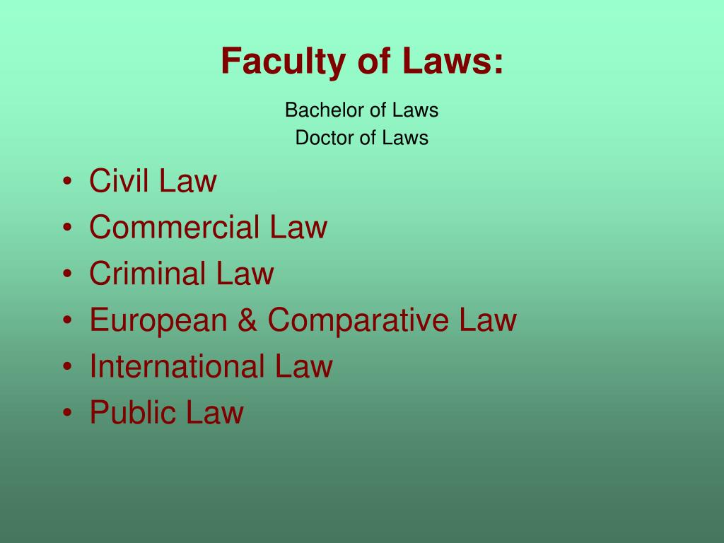 Faculty of Laws: