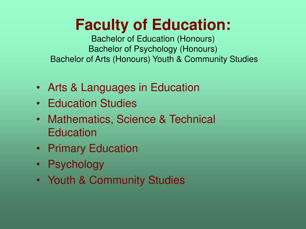Faculty of Education: