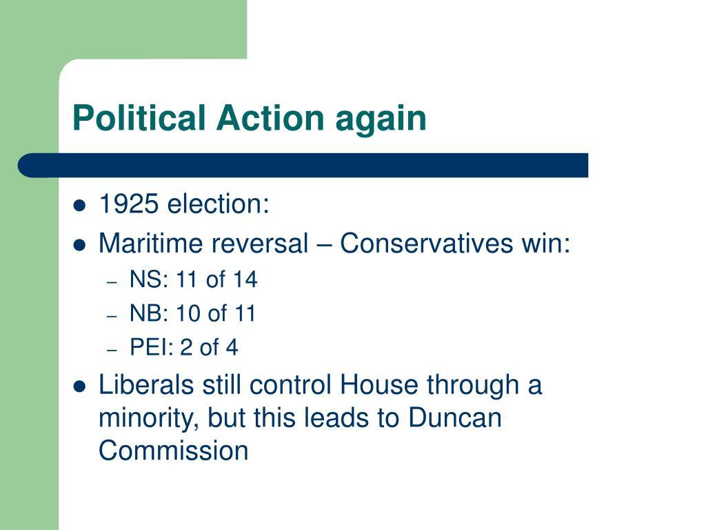 Political Action again