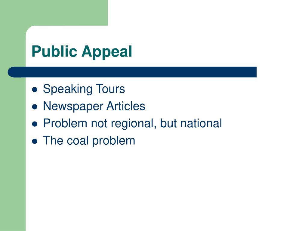 Public Appeal