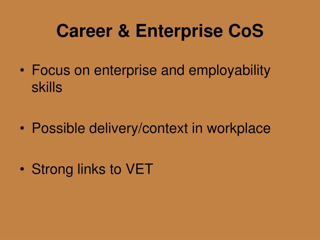 Career & Enterprise CoS