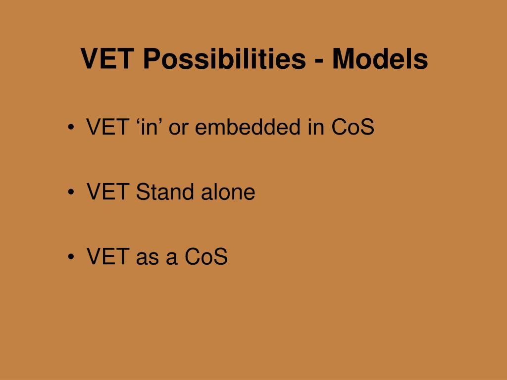 VET Possibilities - Models
