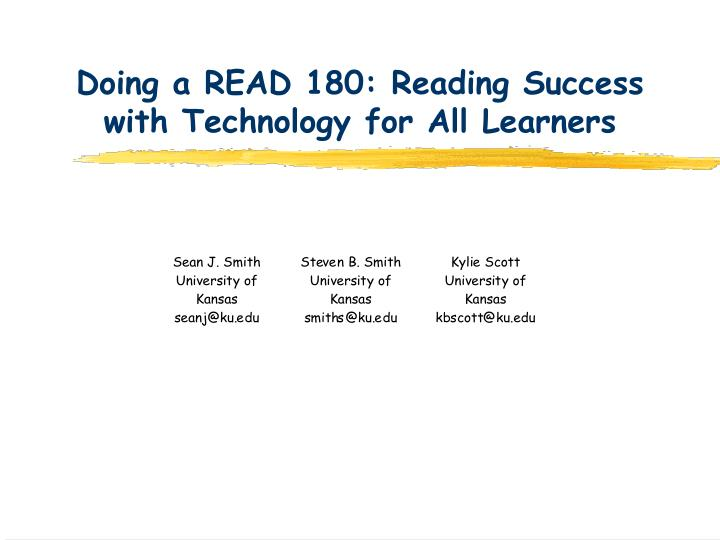 Doing a read 180 reading success with technology for all learners