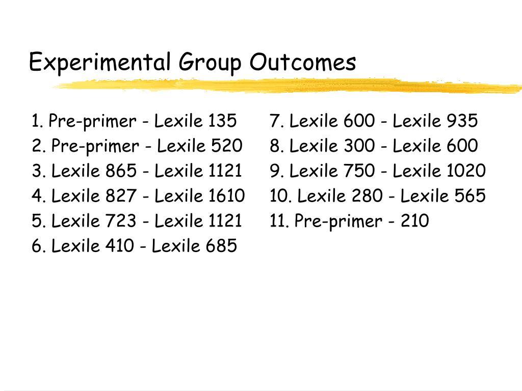1. Pre-primer - Lexile 135