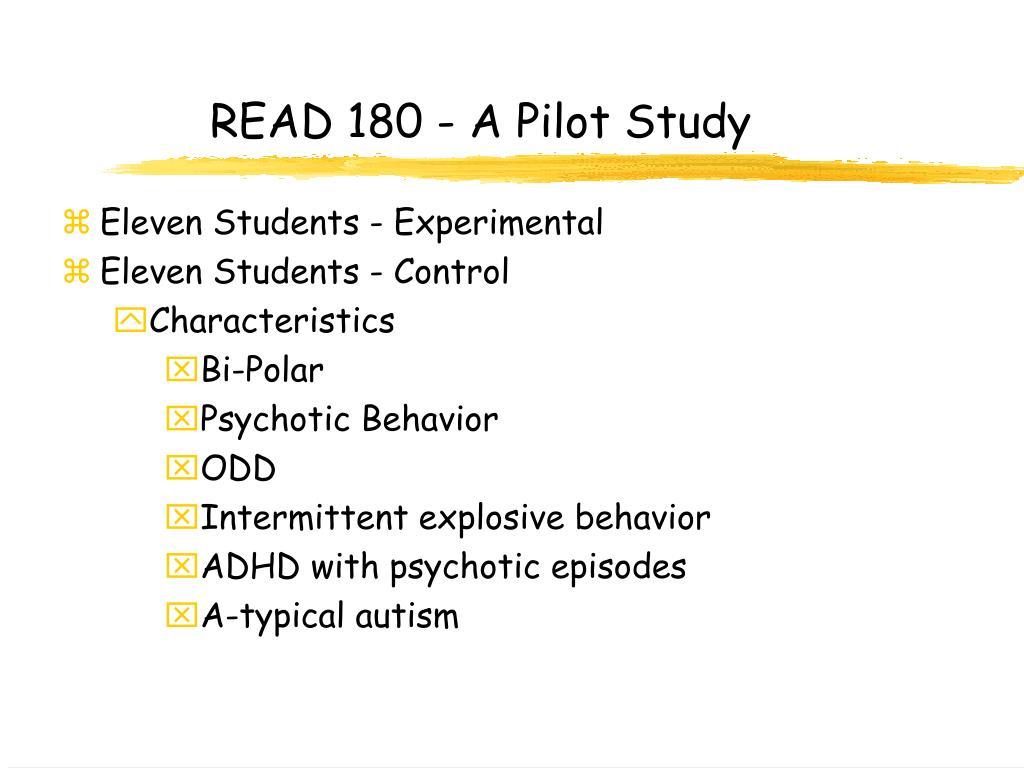 READ 180 - A Pilot Study