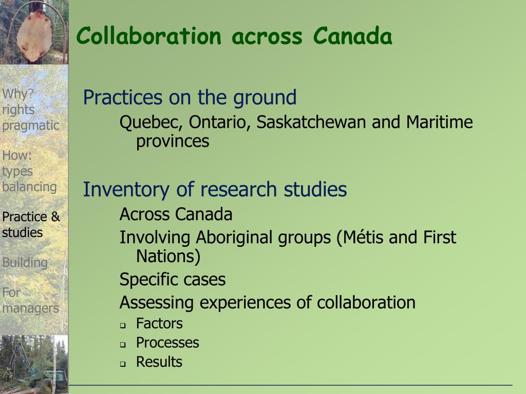 Collaboration across Canada