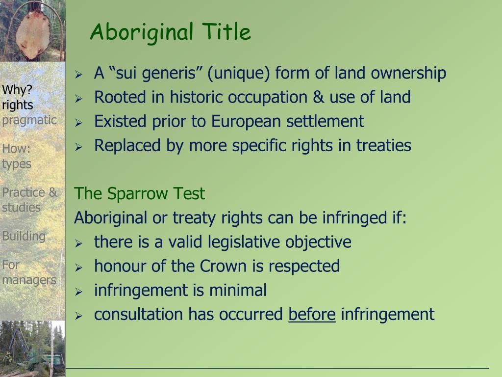 """A """"sui generis"""" (unique) form of land ownership"""