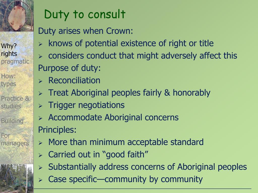 Duty arises when Crown: