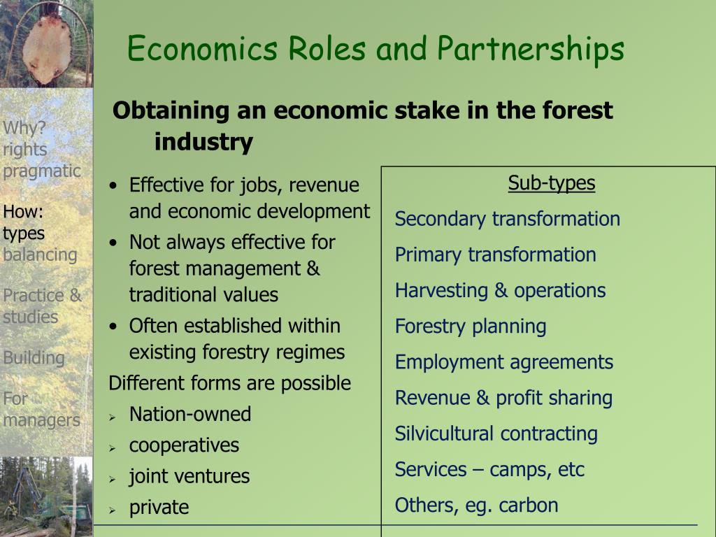 Economics Roles and Partnerships