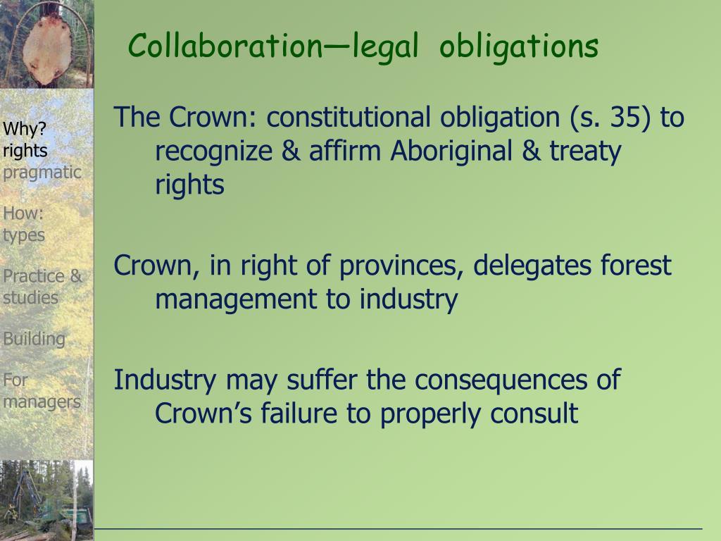 Collaboration—legal  obligations