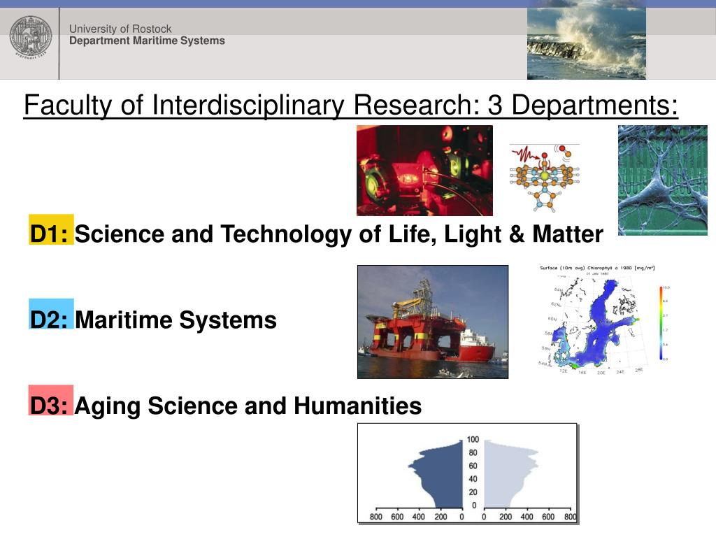 Faculty of Interdisciplinary Research: 3 Departments: