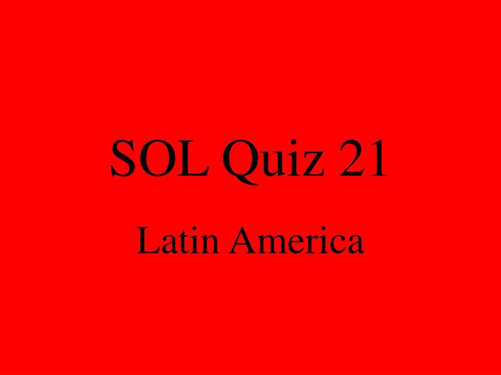 sol quiz 21