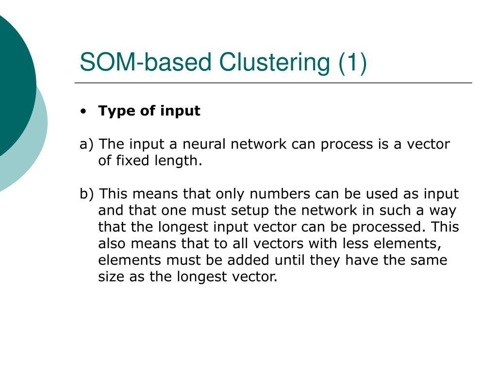 SOM-based Clustering (1)