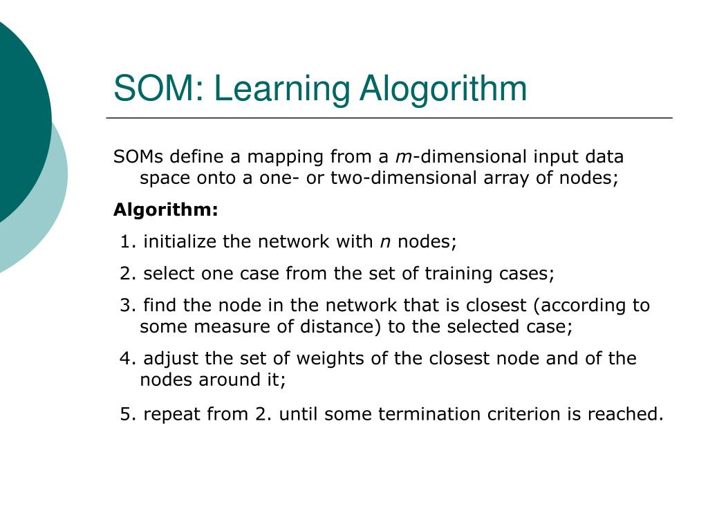 SOM: Learning Alogorithm