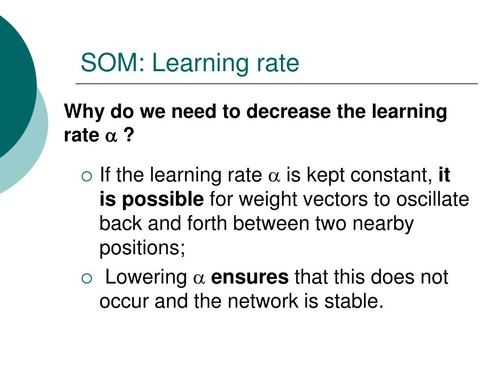 SOM: Learning rate