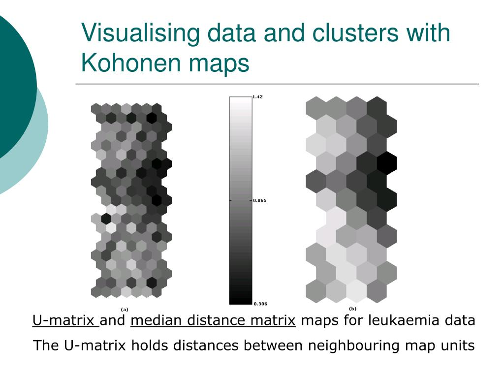 Visualising data and clusters with Kohonen maps